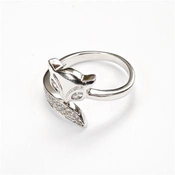 Металическое кольцо Лиса LUX