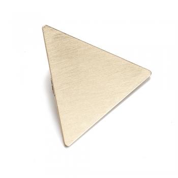 Заколка для волосся трикутник золотий