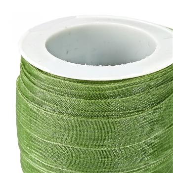 Стрічка з органзи 10 мм зелена
