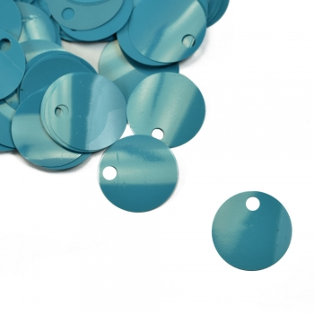 Паєтки для в'язання 40 гр блакитні матові
