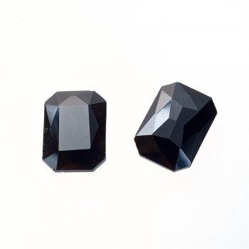 Стразы стеклянные вставные. Черный. Длина 18 мм, ширина 13 мм.