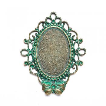 Основа для вклеювання каменів середня бронза під старовину