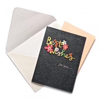 Открытка с конвертом Best wishes