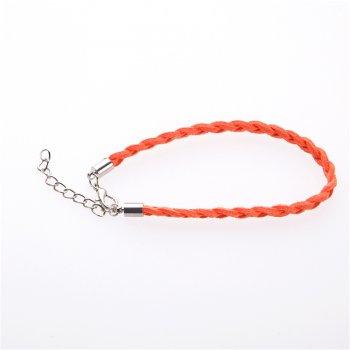 Гот.осн.для браслета замшевые плетеные косички оранжевая