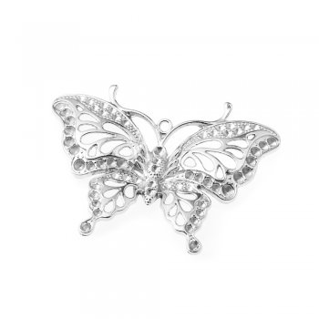 Кулон металлический бабочка ажурная