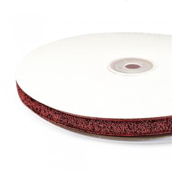 Лента бархатная 10 мм красная с люрексом