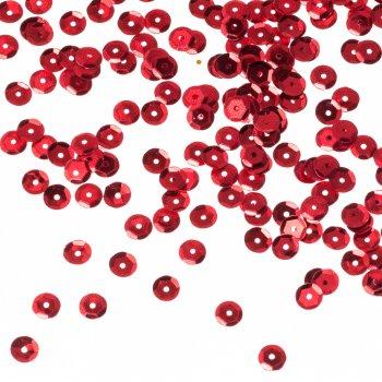 Пайетки, красный, 6 мм