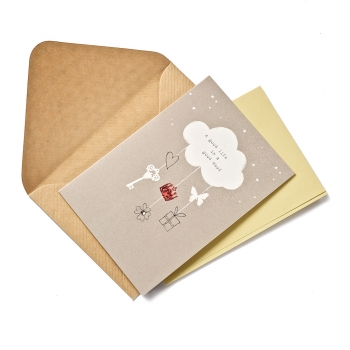 Открытка с конвертом A good life in a good mood