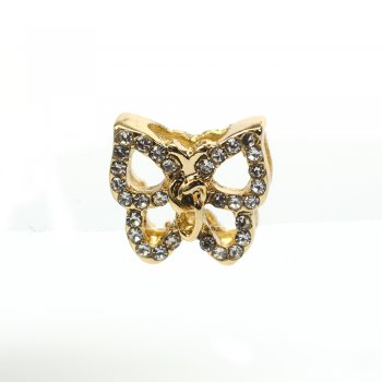 Намистина слайдер Метелик контур лимонне золото