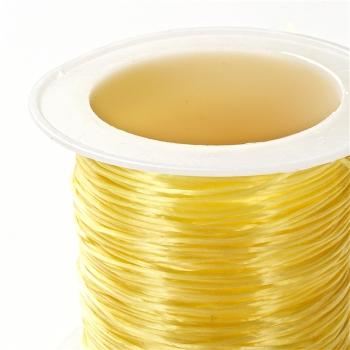 Резинка силиконовая тонкая желтая 0,5 мм