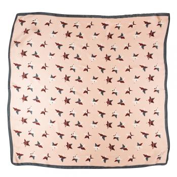 Платок 70х70 см со звездами персиковый