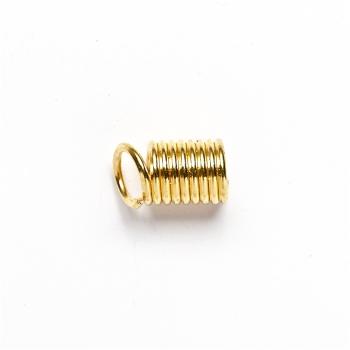 Зажимы для шнуров. Золотой. Диаметр 5 мм.