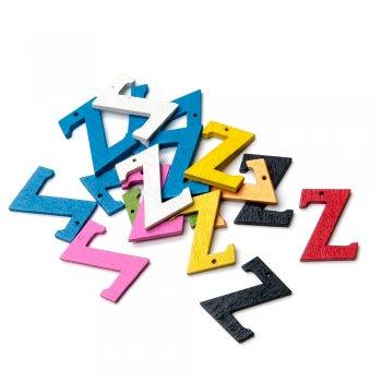 Підвіски дерев'яні, буква Z