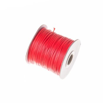 Плетений шнур червоний, бавовна, 1 мм