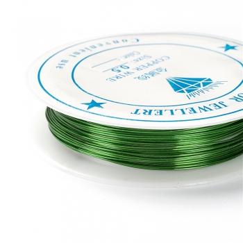 Проволока медная зелёная 0,5 мм катушка 7 м (+-10%)