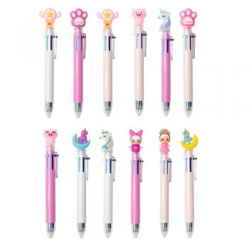Ручка багатоколірна Єдиноріг 6 кольорів