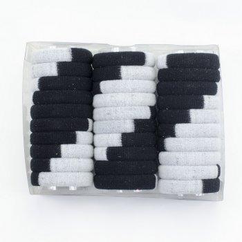 Резинка для волосся сіро-чорная