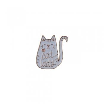 Значок пин Cat lady