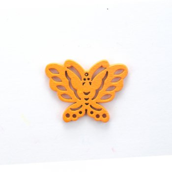 Дерев'яна підвіска Метелик Помаранчевий