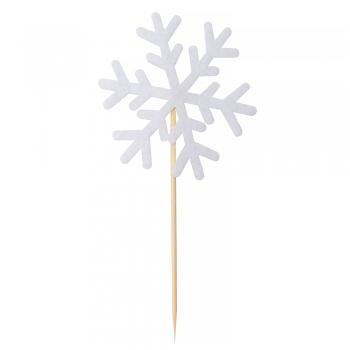 Декоративний елемент на паличці Сніжинка