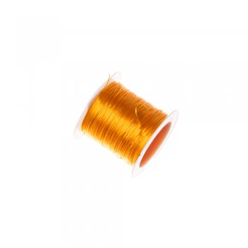 Резинка силіконова тонка помаранчева 0,5 мм