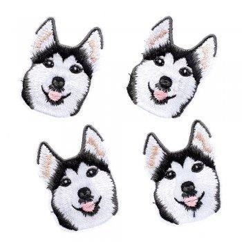 Тканинна нашивка Собака Хаскі