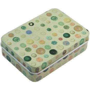 Коробочка бляшана прямокутної форми 9х6,5х2,5см