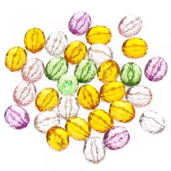 Пластиковые кристаллы 21 мм, микс цветов