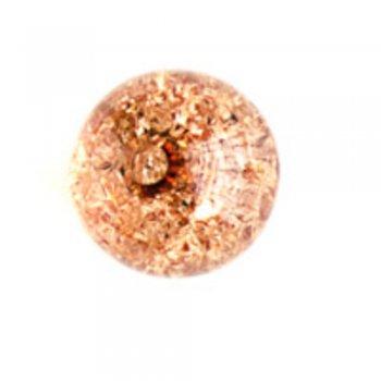 Намистини 15 мм. Пластик з кракеллюрамі приглушено-коричневий