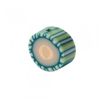 Намистина з полімерної глини Тропічний фрукт зелений 10 мм