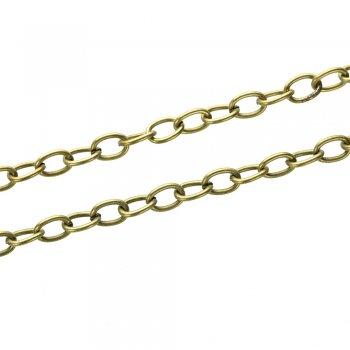 Цепь бронзовая средняя якорная 6х8х1,4 мм