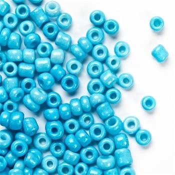 Бисер круглый, мелкий, светло-голубой. Калибр 12 (1,8 мм)