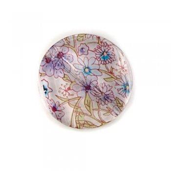 Полимерные бусины с цветочным узором. Круг большой