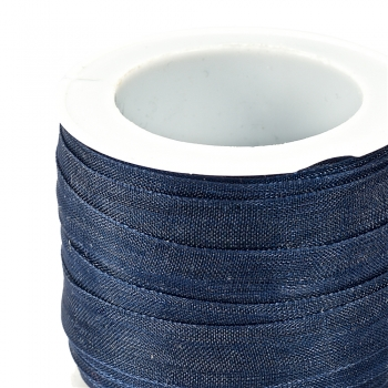 Лента из органзы 10 мм синяя