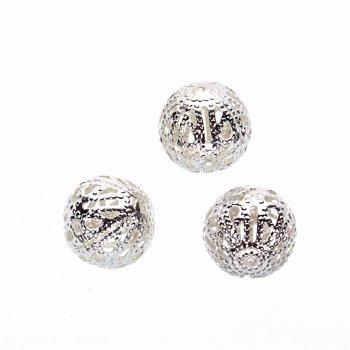 Ажурні намистини сріблясті коло