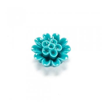 Пластикові клейові елементи. Квітка колір морської хвилі