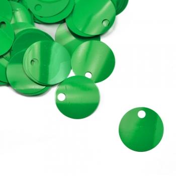 Паєтки для в'язання 40 гр зелені матові