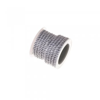 Крученный шнур серебристый люрекс 4 мм 2 м