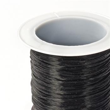 Резинка силиконовая тонкая черная 0,5 мм