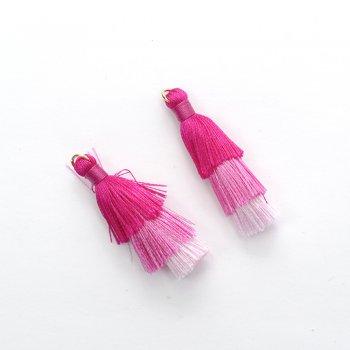 Текстильные кисточки малиновые