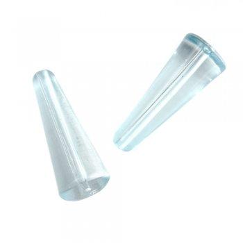 Пластиковые кристаллы. Бусина Конус