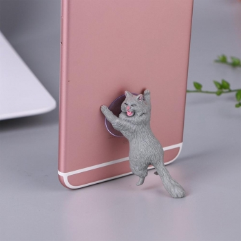Держатель для телефона Кошачья поддержка Кот серый