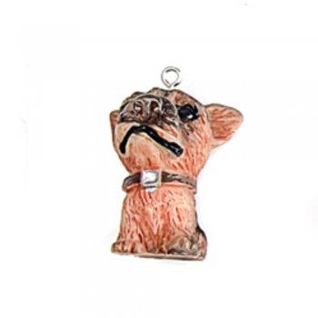 Собака черная. Оригинальные подвески для хендмейд-изделий