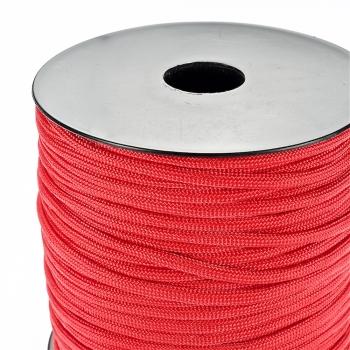 Шнур паракорд червоний поліестер 4 мм