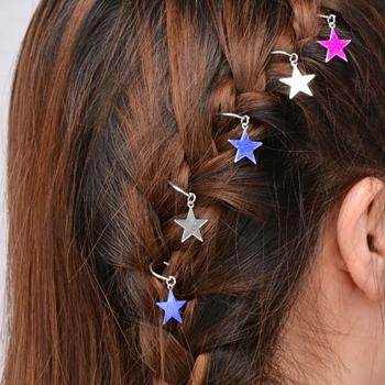 Пірсинг для волосся Зірка набір 10 шт