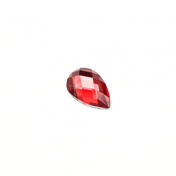 Стрази клейові пластикові 9х6 мм червоні уп. 20шт