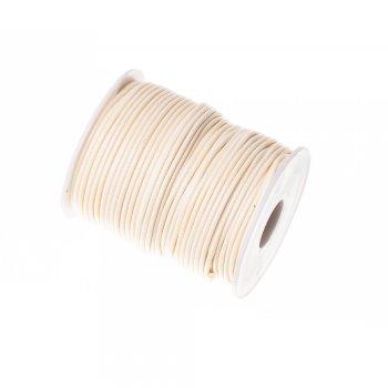 Плетёный шнур кремовый синтетика 2 мм