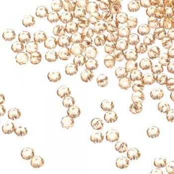 Кришталева намистина рондель 4 мм золотисто-бежева