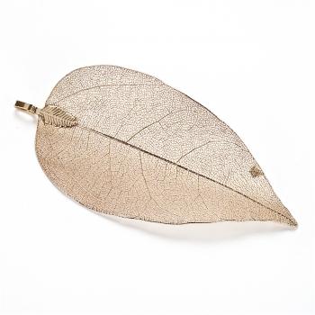 Кулон металлический Золотой лист