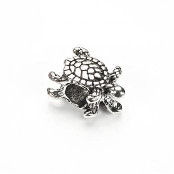 Металлическая бусина шарм мельхиор черепаха